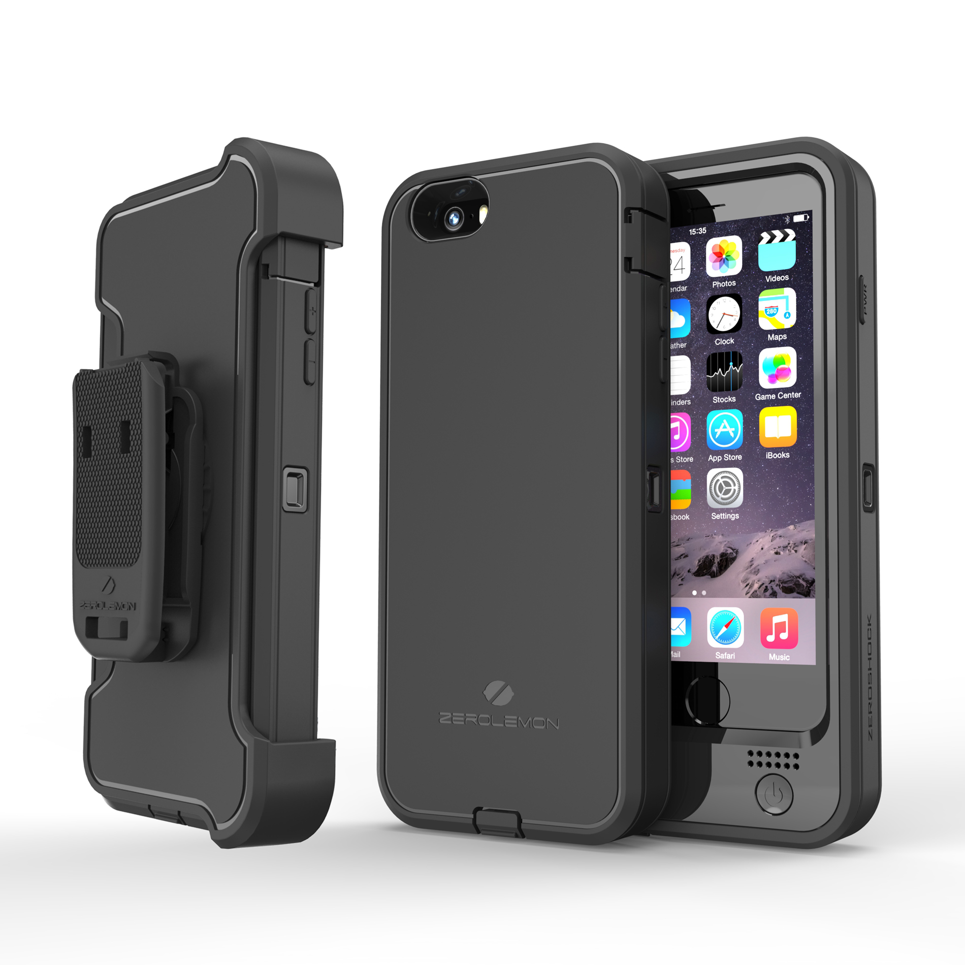 iphone 6 6s plus rugged case 9000mah zerolemon. Black Bedroom Furniture Sets. Home Design Ideas