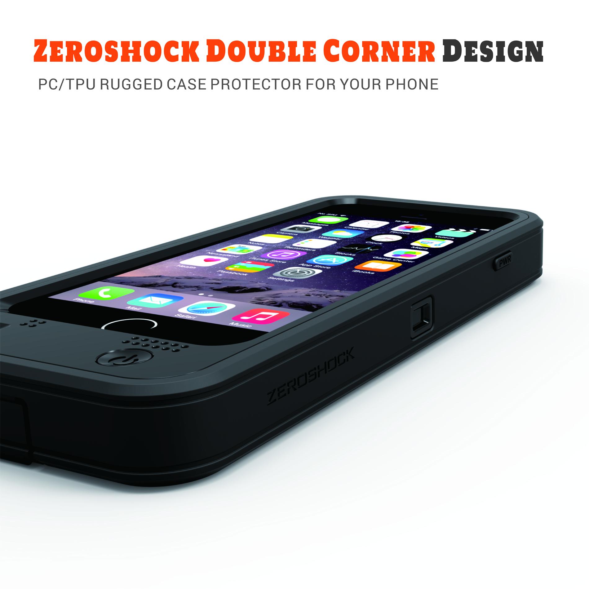 iphone 6 6s plus rugged case 9000mah zerolemon. Black Bedroom Furniture Sets. Home Design Ideas
